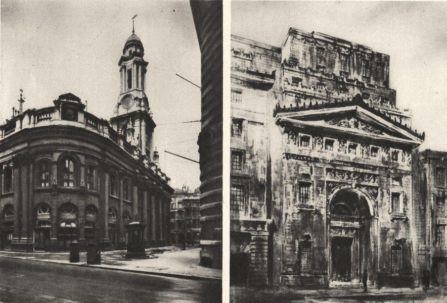 Associate Product ROYAL EXCHANGE. Lloyd's Premises Architect's drawing New Leadenhall St 1926