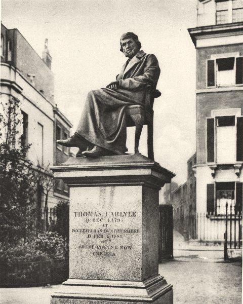 Associate Product LONDON. In Cheyne Walk Gardens Thomas Carlyle Eternally Ponders philosophy 1926