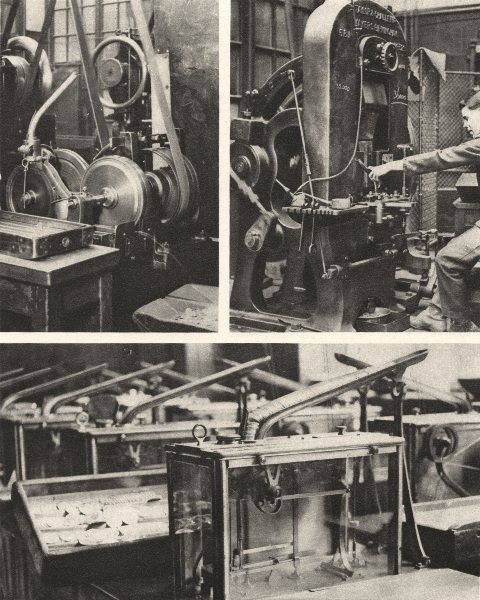 Associate Product LONDON. Stamping and Milling the disks & weighing the finished coins.Mint 1926