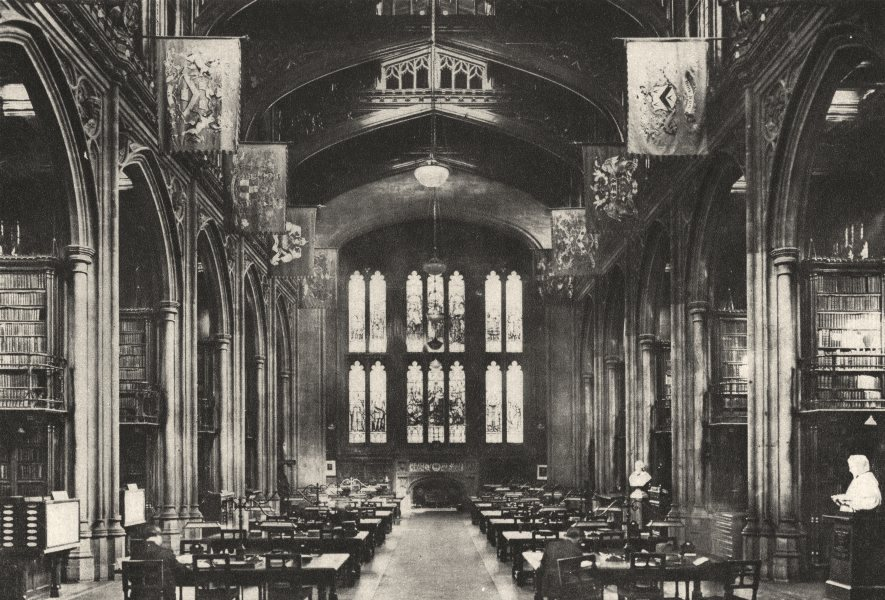 Associate Product LONDON. Library of the Guildhall, to which every Londoner should go 1926 print