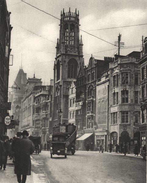 Associate Product LONDON. St. Dunstan's Fleet Street, Izaak Walton's Parish church 1926 print
