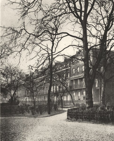 Associate Product LONDON. Brunswick Square. Part of Bloomsbury's Boarding- house Land 1926 print