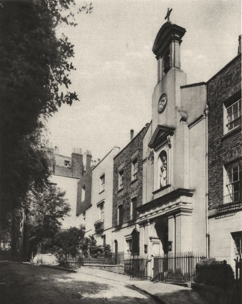 Associate Product LONDON. Holly place, a quiet by- way on the side of Hampstead Hill 1926 print