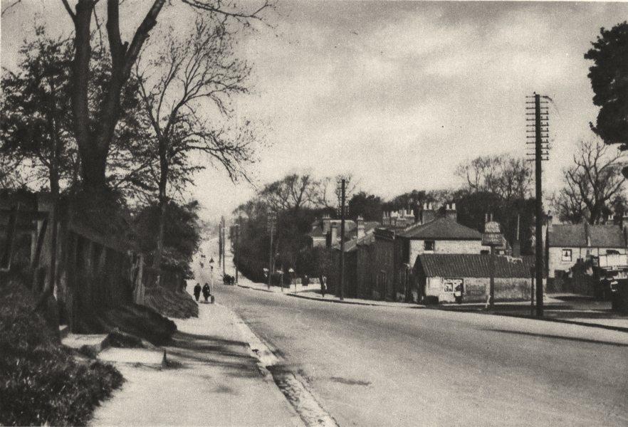 Associate Product LONDON. Roman Road To Dover crosses Shooter's Hill beyond Blackheath 1926