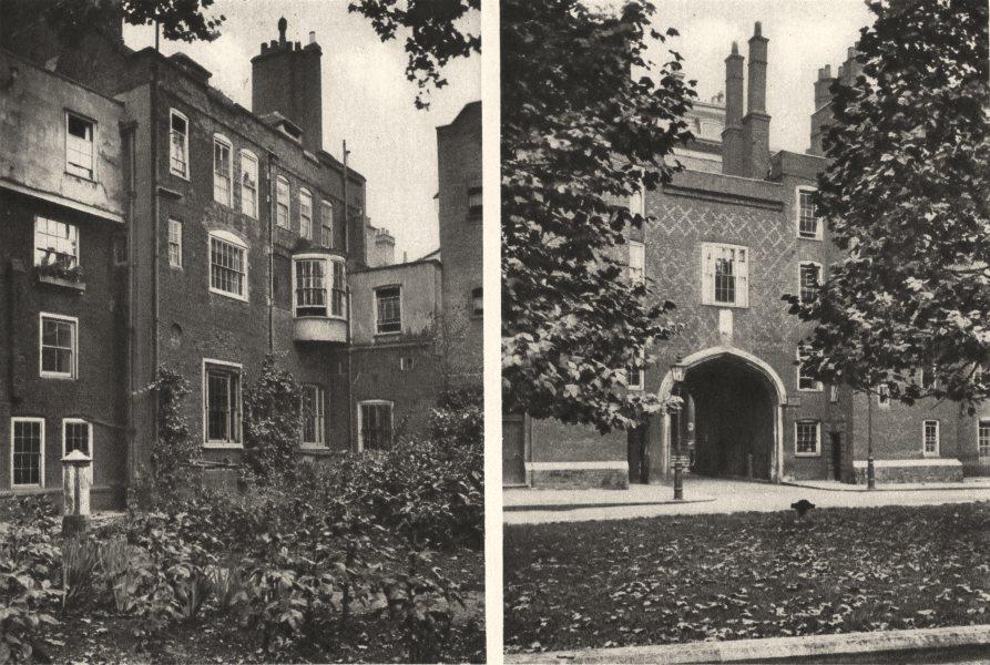 Associate Product LONDON. Views behind old Buildings Court Gateway Lincoln's Inn 1926 print