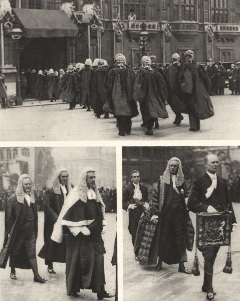 Associate Product LONDON. Parade Abbey to House of Lords at Reopening of Law courts 1926 print