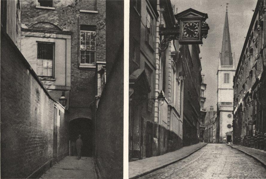 Associate Product LONDON. St Mary-at-Hill. Love Lane. Eastcheap. Billingsgate 1926 old print