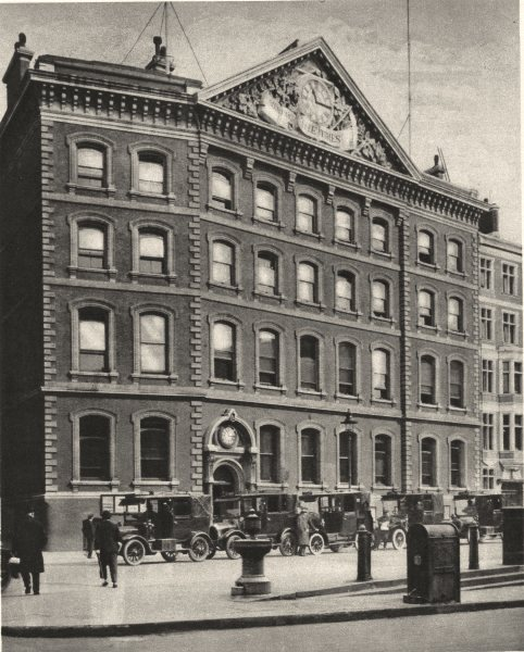Associate Product LONDON. Offices of The Times in Queen Victoria Street near a Historic site 1926