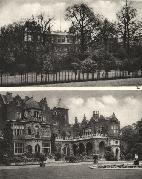 Associate Product LONDON. Marlborough House, St. James's & Holland House Campden Hill 1926 print