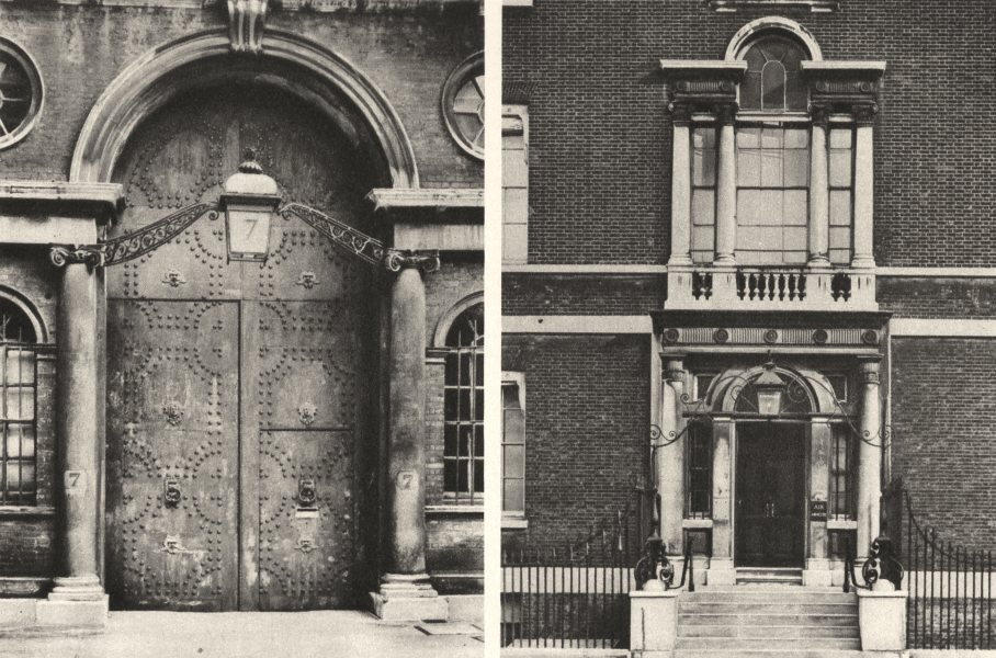 Associate Product LONDON. Beautiful premises offices in Whitehall & Whitehall Gardens 1926 print