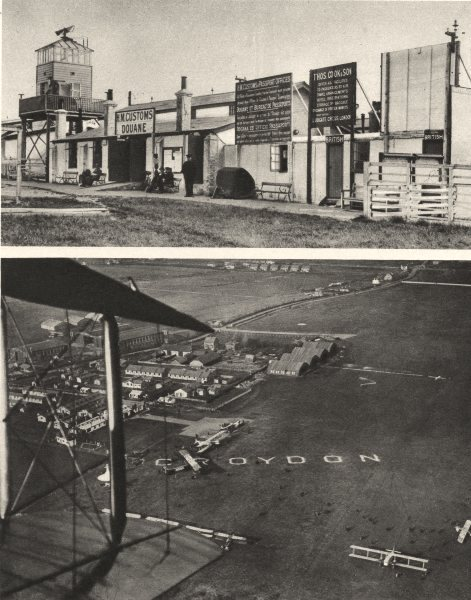 Associate Product CROYDON. The Airport of London as it was in 1925 1926 old vintage print