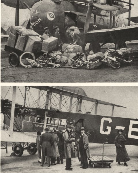 Associate Product CROYDON. Aircraft. Vickers-Vimy. Loading Cargo and Passengers for Europe 1926
