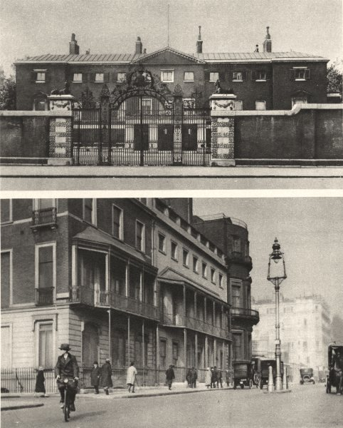 Associate Product LONDON. Devonshite House. No 1, Stratton Street 1926 old vintage print picture