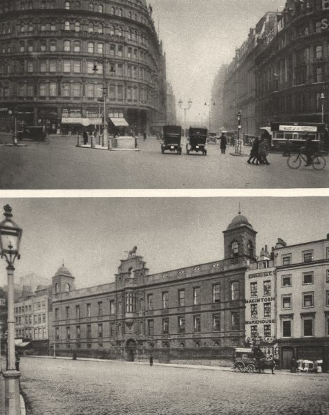 Associate Product LONDON. Northumberland Avenue and Northumberland House Palace 1926 old print