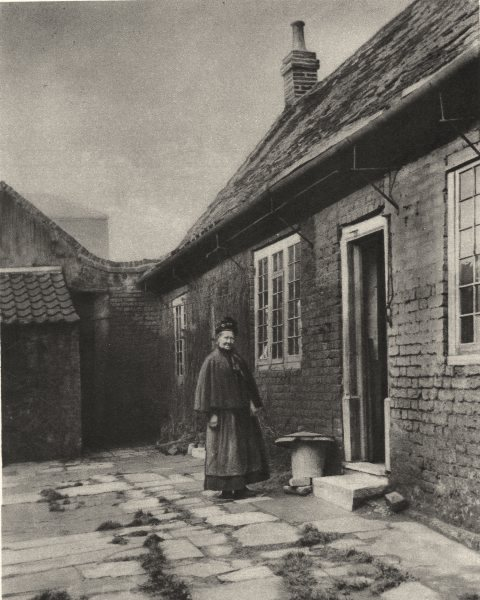Associate Product LONDON. Poplar Almshouses founded in the Seventeenth century. Bow Lane 1926