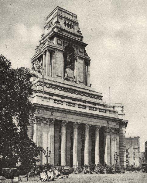 Associate Product LONDON. Premises of the Port of London Authority at Tower Hill 1926 old print