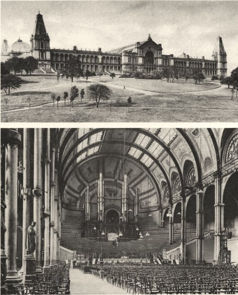 Associate Product LONDON. Alexandra Palace where it stands on Muswell Hill 1926 old print