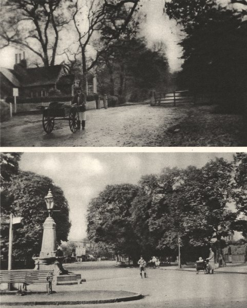 Associate Product LONDON. Dulwich village and the Surviving Toll gate in College Road 1926 print