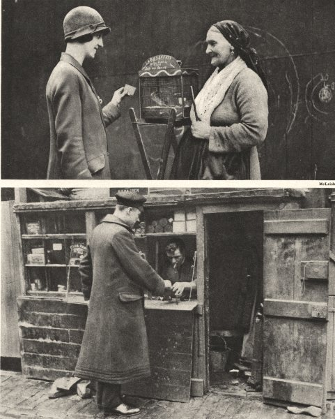 Associate Product LONDON. Quaint scenes in the Byways and Back streets. Cobbler 1926 old print