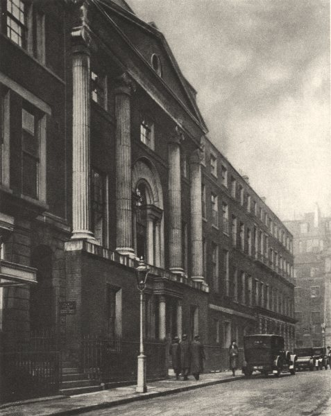 Associate Product LONDON.House built by the Brothers Adam. Royal Society of Arts, John Street 1926