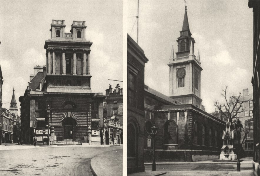 Associate Product LONDON. St. Mary Woolnooth. Threatened city Churches. St Lawrence Jewry 1926