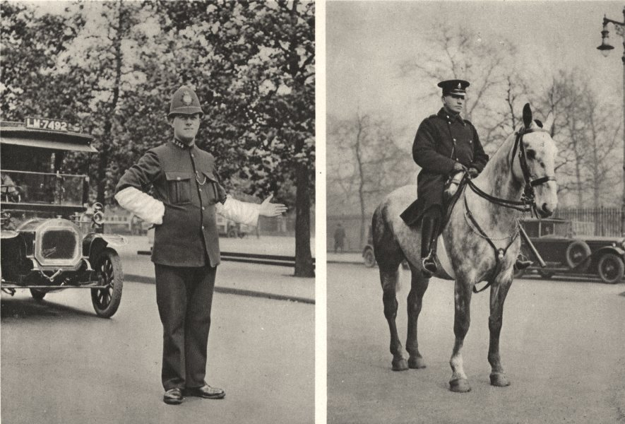 Associate Product LONDON. London's Police force daily work Hyde Park corner Piccadilly. Horse 1926