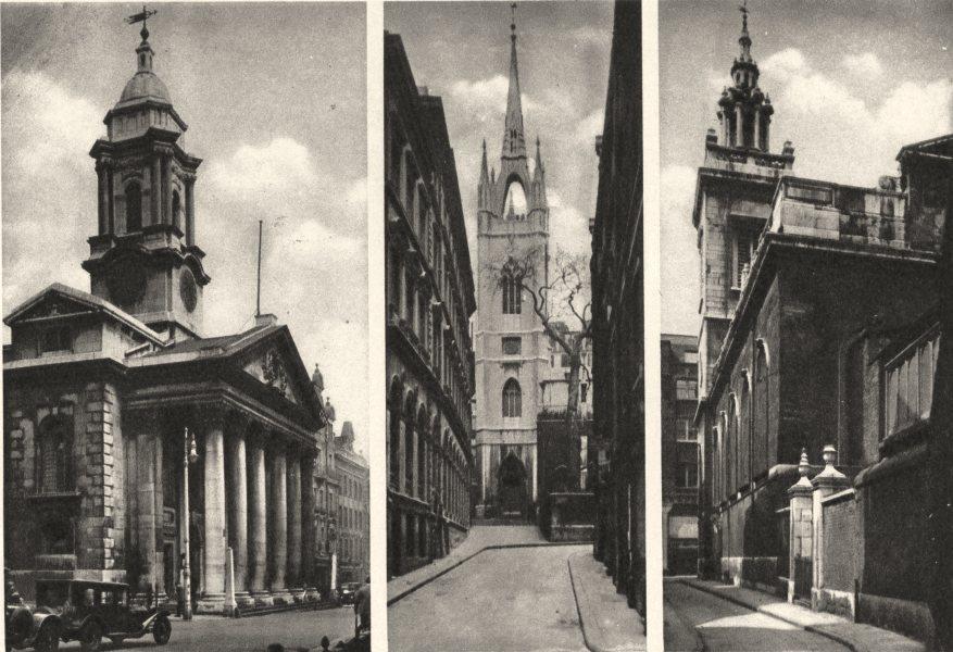 Associate Product LONDON.St.George's,Hanover Square.Dunstan's E.Michael's,Paternoster Royal 1926
