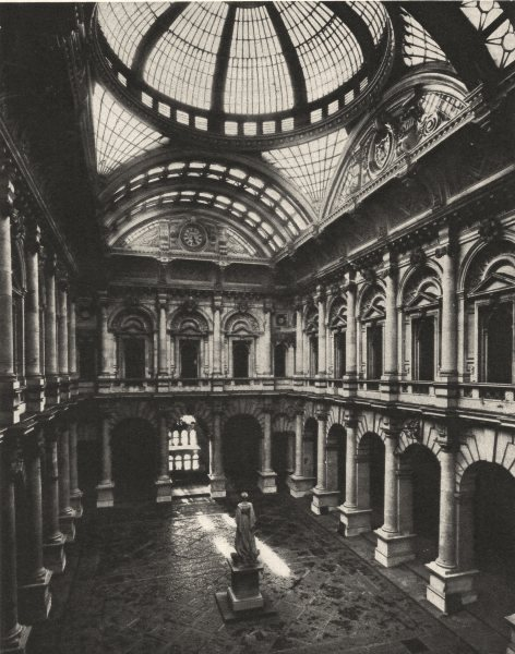 Associate Product LONDON. Glass- Roofed interior court of the Royal Exchange 1926 old print