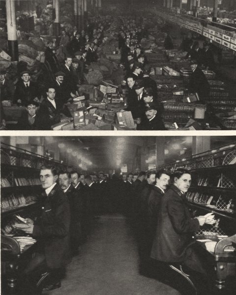 Associate Product LONDON. The General Post Office at work. Sorting- room at Mount Pleasant 1926