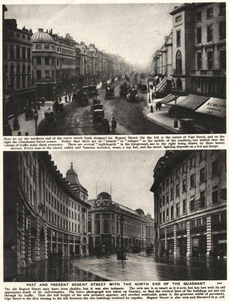 Associate Product LONDON. Past & Present Regent Street. North end of the Quadrant. Nash 1926