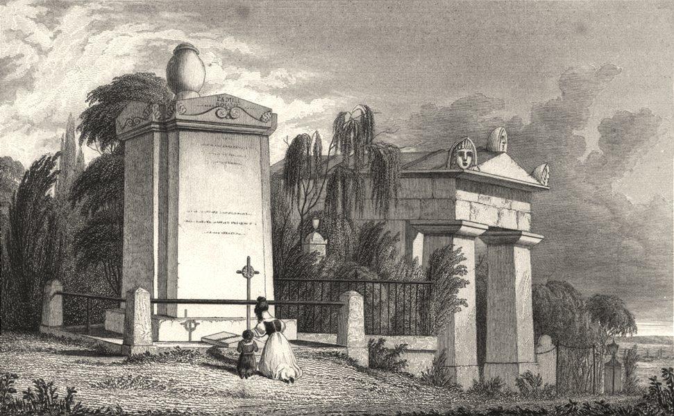Associate Product PARIS. Monument de la famille bouchée Pére la chaise 1831 old antique print
