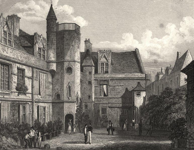 Associate Product SAÔNE- ET- LOIRE. Hotel de Cluny 1831 old antique vintage print picture
