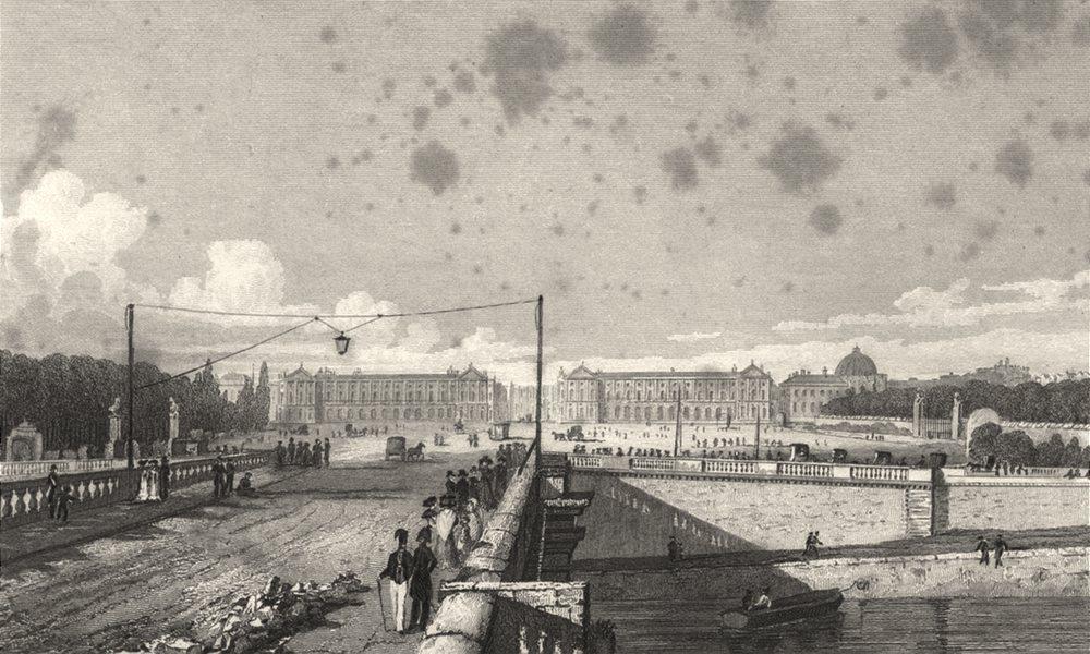 Associate Product PARIS. Place de Louis XV, taken from the Bridge 1831 old antique print picture