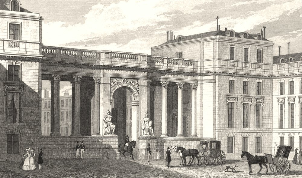 Associate Product PARIS. Screen to the Court Yard, Chamber of Deputies 1831 old antique print