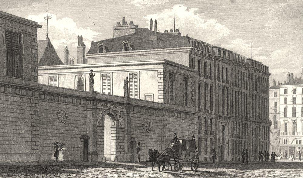 Associate Product PARIS. Banque de France 1831 old antique vintage print picture