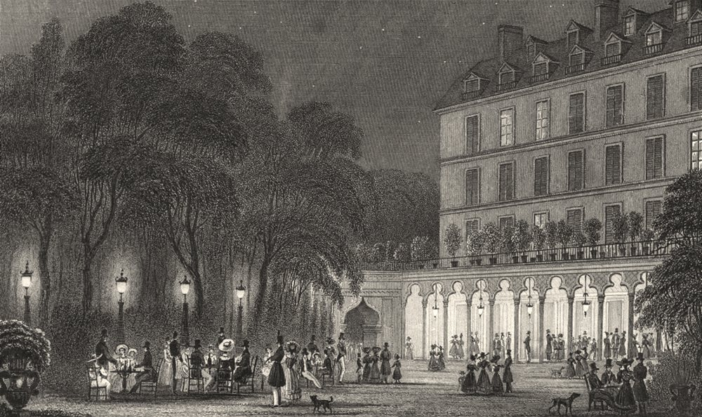 Associate Product PARIS. Café Turc 1831 old antique vintage print picture