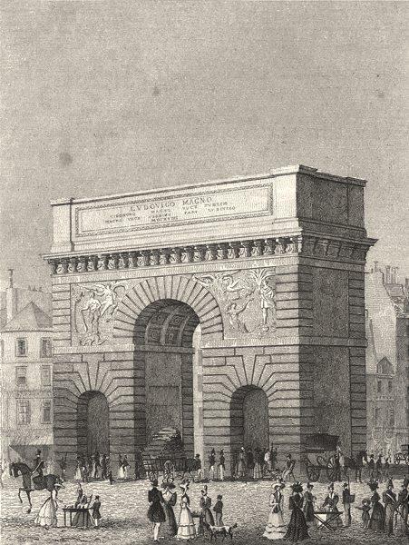 Associate Product PARIS. Porte St. Martin 1831 old antique vintage print picture