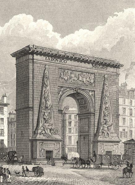 Associate Product PARIS. Porte St. Denis 1831 old antique vintage print picture