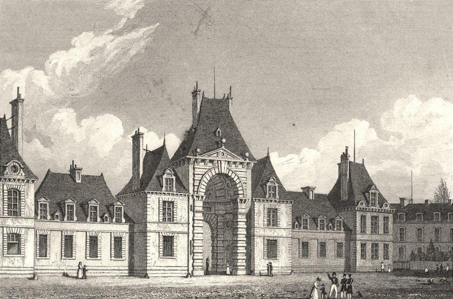 Associate Product SEINE- ET- MARNE. Fontainebleau Place D'Armes 1831 old antique print picture