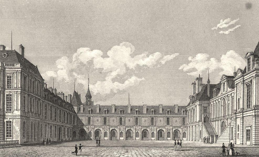 Associate Product SEINE- ET- MARNE. Fontainebleau Cour Des Fontaines 1831 old antique print