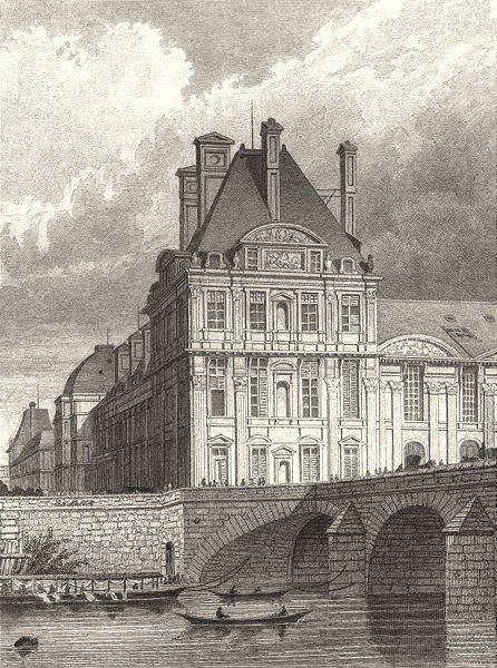Associate Product PARIS. Pavillon de Flore & Pont Royal 1831 old antique vintage print picture