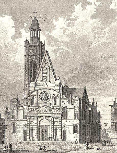 Associate Product LOIRE. Eglise de Saint- Etienne- du- Mont 1831 old antique print picture