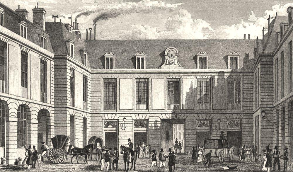 Associate Product PARIS. Grand Bureau de la Poste 1831 old antique vintage print picture