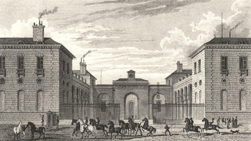 Associate Product PARIS. Ecuries du Roi, Faubourg du Roule 8e 1831 old antique print picture