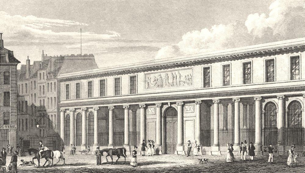 PARIS. Ecole de Medecine 1831 old antique vintage print picture