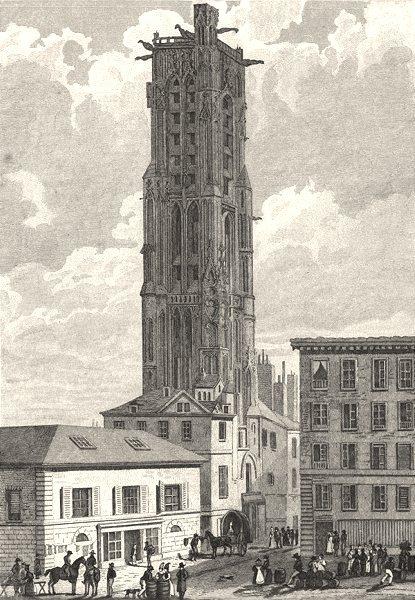 Associate Product PARIS. Tour de St. Jacques. la Boucherie 1831 old antique print picture