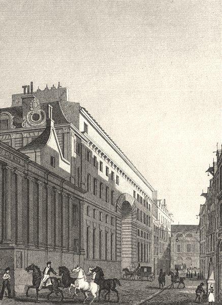 Associate Product PARIS. Ecuries du Roi, Rue St. Thomas du Louvre 1831 old antique print picture