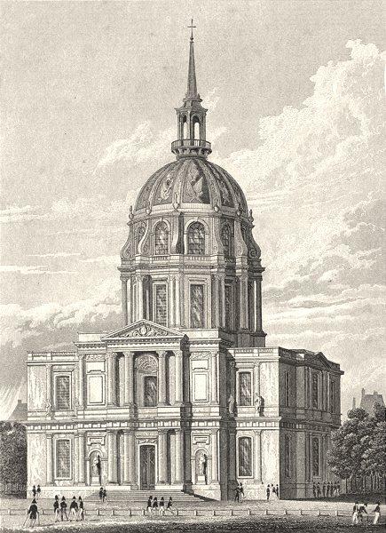 Associate Product PARIS. Chapelle des Invalides 1831 old antique vintage print picture