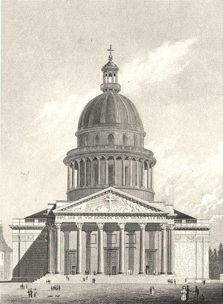 Associate Product PARIS. Eglise de Ste. Genevieve 1831 old antique vintage print picture