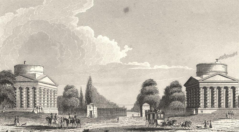 Associate Product PARIS. Barriere de L'Etoile, Ou de Neuilly 1831 old antique print picture